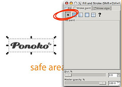 fixing a tracing problem in inkscape