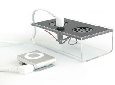 ipod speakers made from recycled packaging