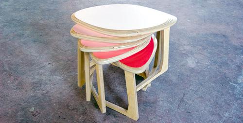 4-Pli Petal stools