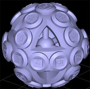 A spherical rubik's cube