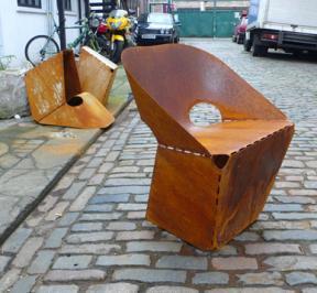 Rusty Sheet Steel Chair