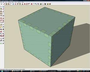 Flightsofideas' cube in Sketchup