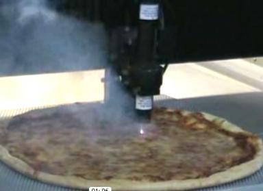 laser cut pizza