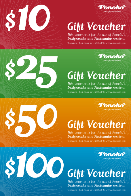 Holiday season gift vouchers 4 vibrant colors – How to Make Vouchers