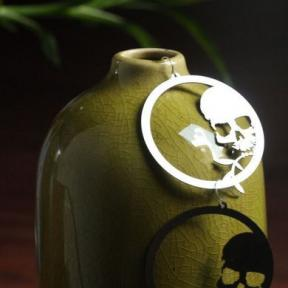 skull and bamboo