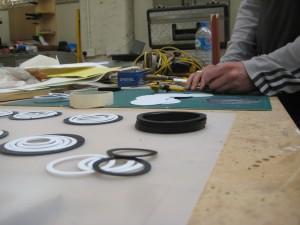 Making up some of Lazerian's handmade jewellery range