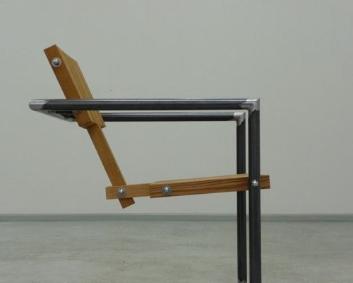 excellent wood metal furniture designs | Philippe Krzyzek Bolts Wood Into Chairs