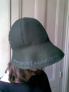 Open Source Emroidery Hat