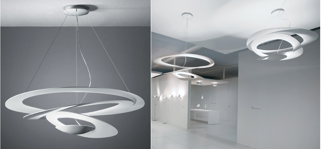 Artful spirals from Artemide lighting. & Start the New Year Spinning azcodes.com