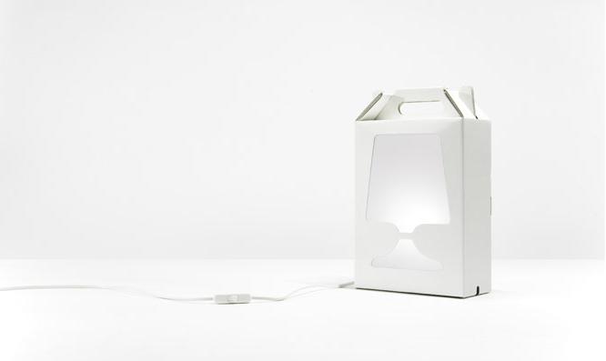 Fancy Cardboard Box Lamp