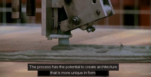 concrete printing print head