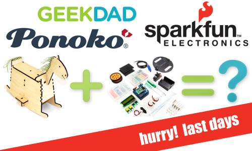 geekdad ponoko sparkfun competition last days