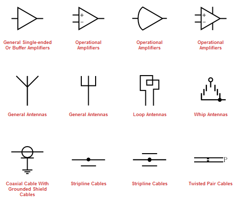 Magnificent Electronics Parts And Symbols Crest - Electrical Circuit ...