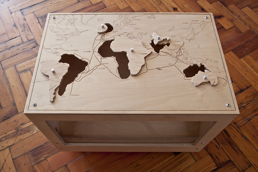 Above is a world map jigsaw