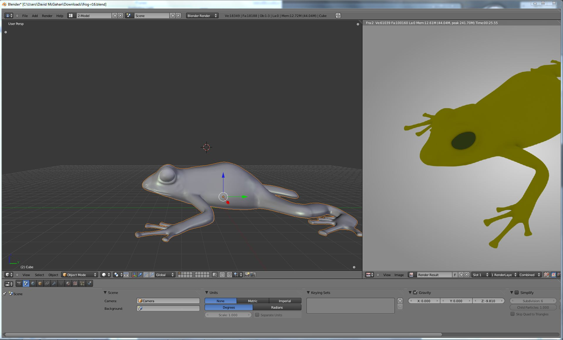Blender Frog by cacysunlee