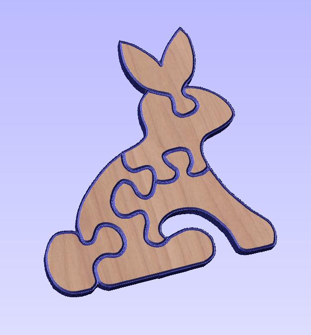 free dxf bunny puzzle