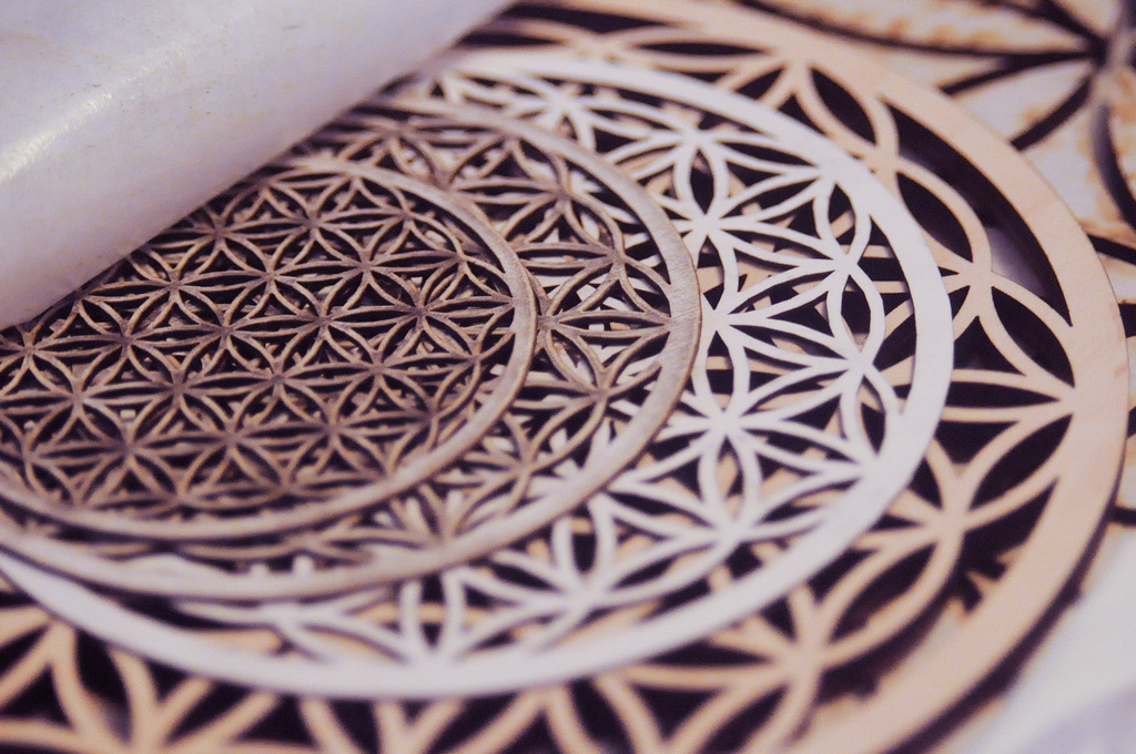 Above Are Laser Cut Works Of Sacred Geometry