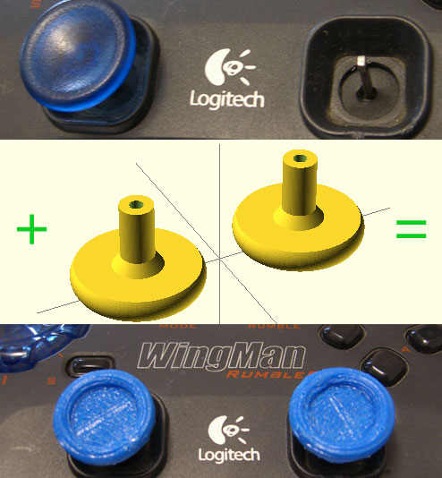OpenSCAD project - Logitech WingMan Rumble Pad