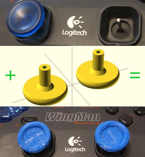 OpenSCAD project - Logitech WingMan Rumble Pad
