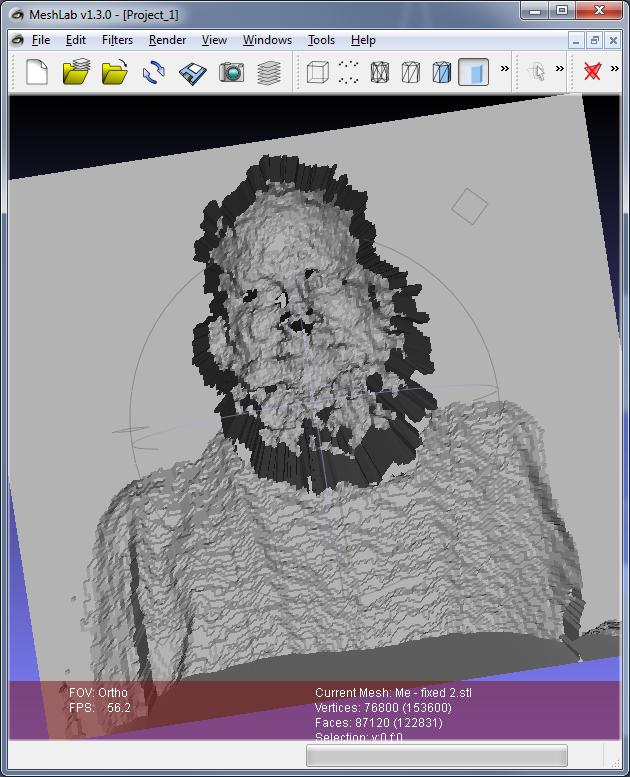 OSX Kinect MeshLab