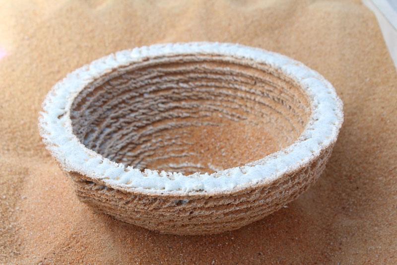 Sintered sand