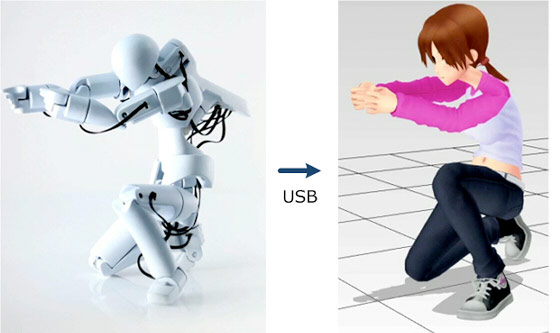 Pose an animated figure with a physical mannequin