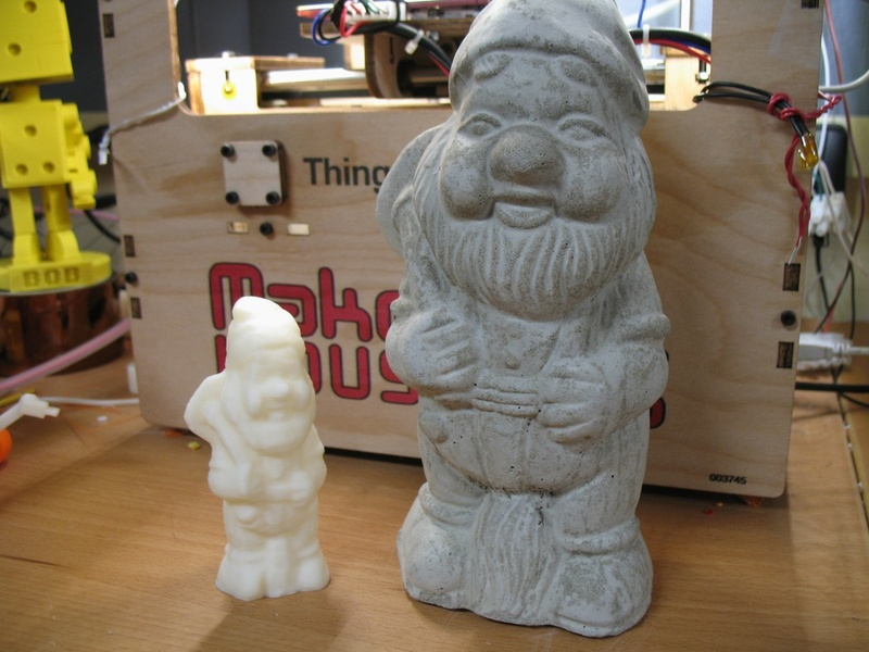 Printed gnome and friend