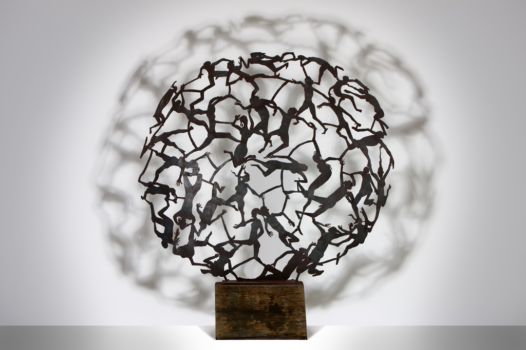 Above is a laser cut stainless steel art work by Michael Snape ...