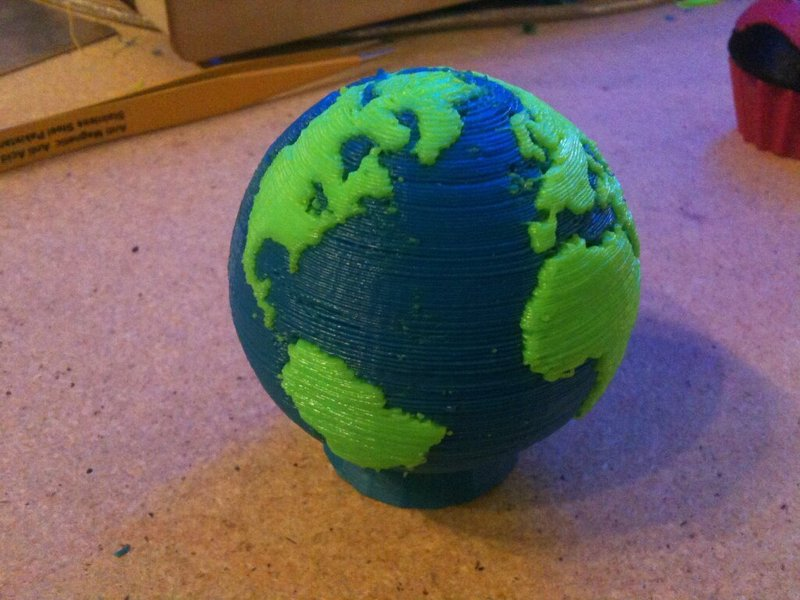 Two-colour globe