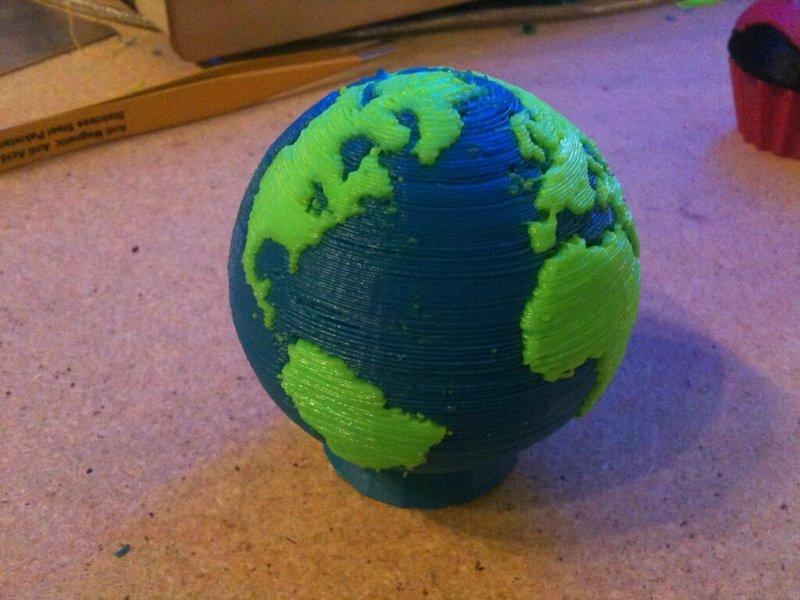 Two-colour globe
