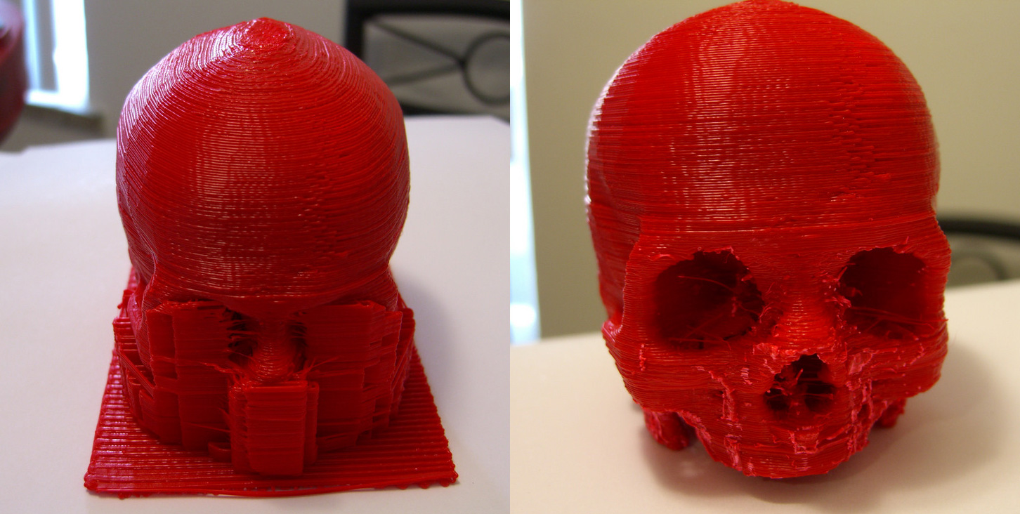 Skull model by Thingiverse user bothacker