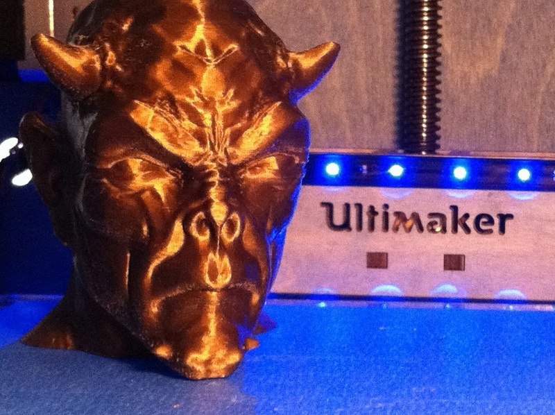 Devil head bust printed by BlueBot