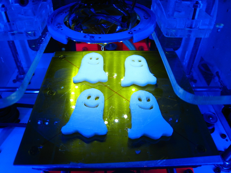 Ghost fridge magnets printed by botbuilderdotnet