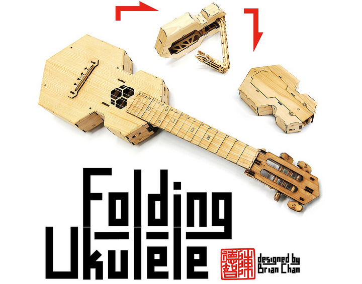 The incredible folding ukulele from maker of anything brian chan every solutioingenieria Image collections