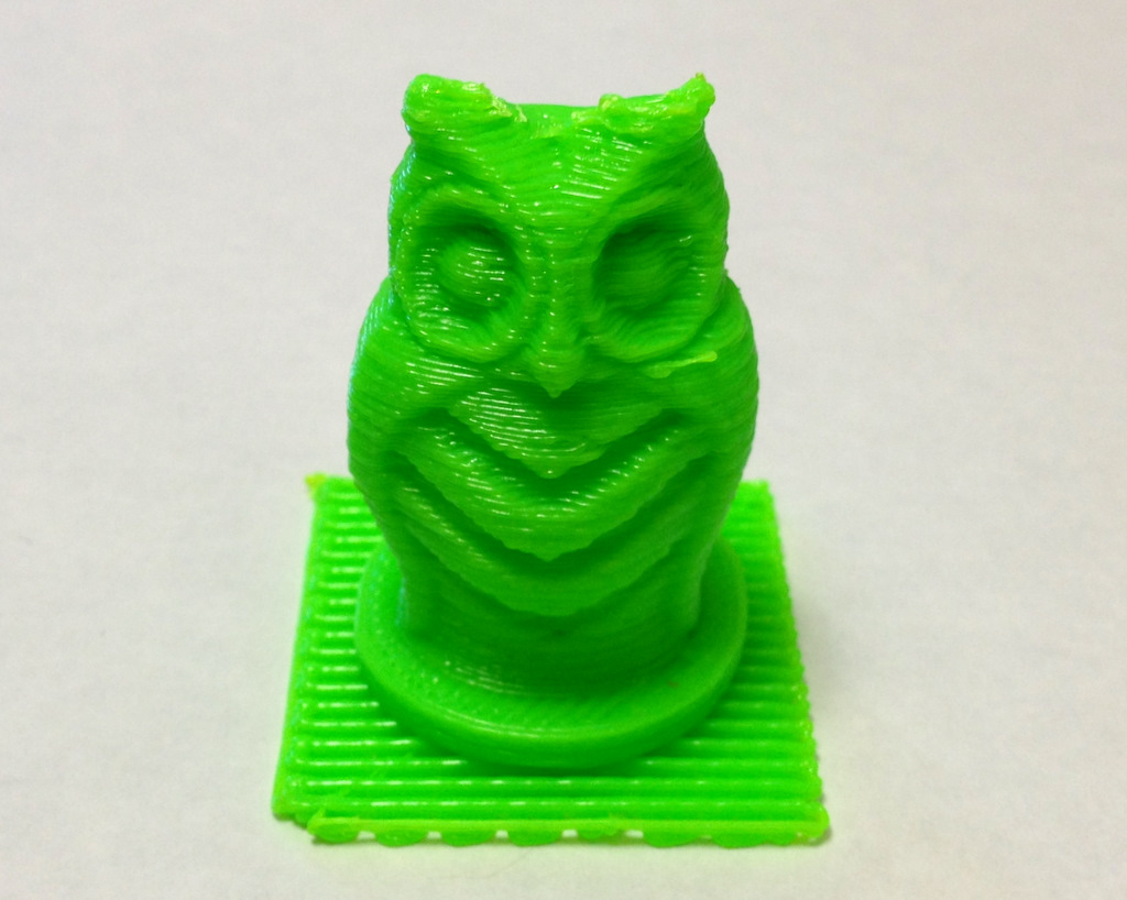 Owl figurine printed on MakerBot #169