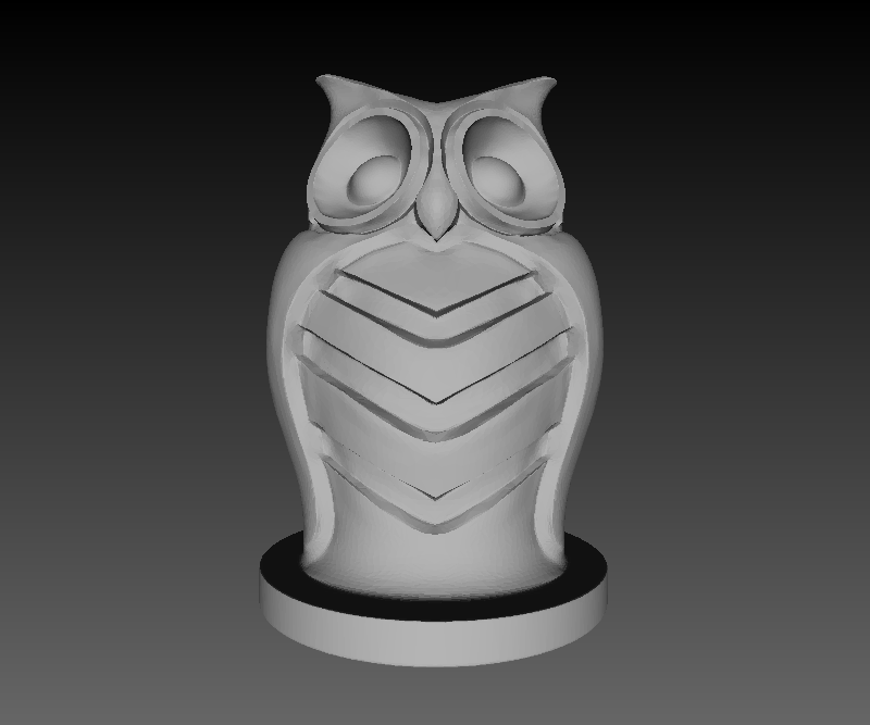 Owl figurine by Lauren K.