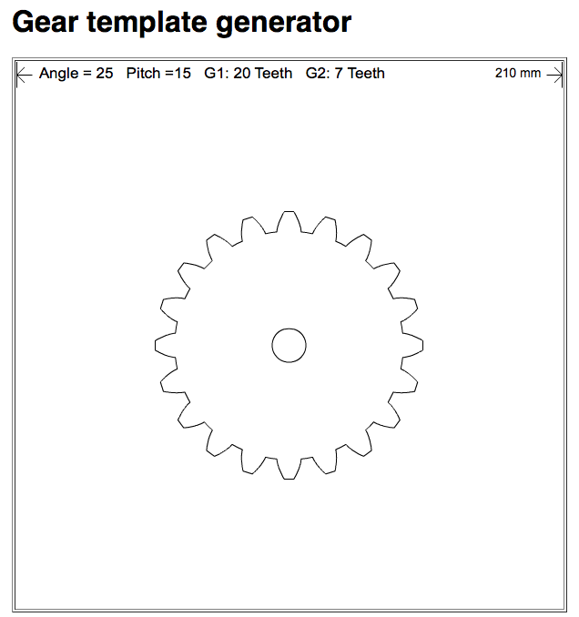 Gear template generator
