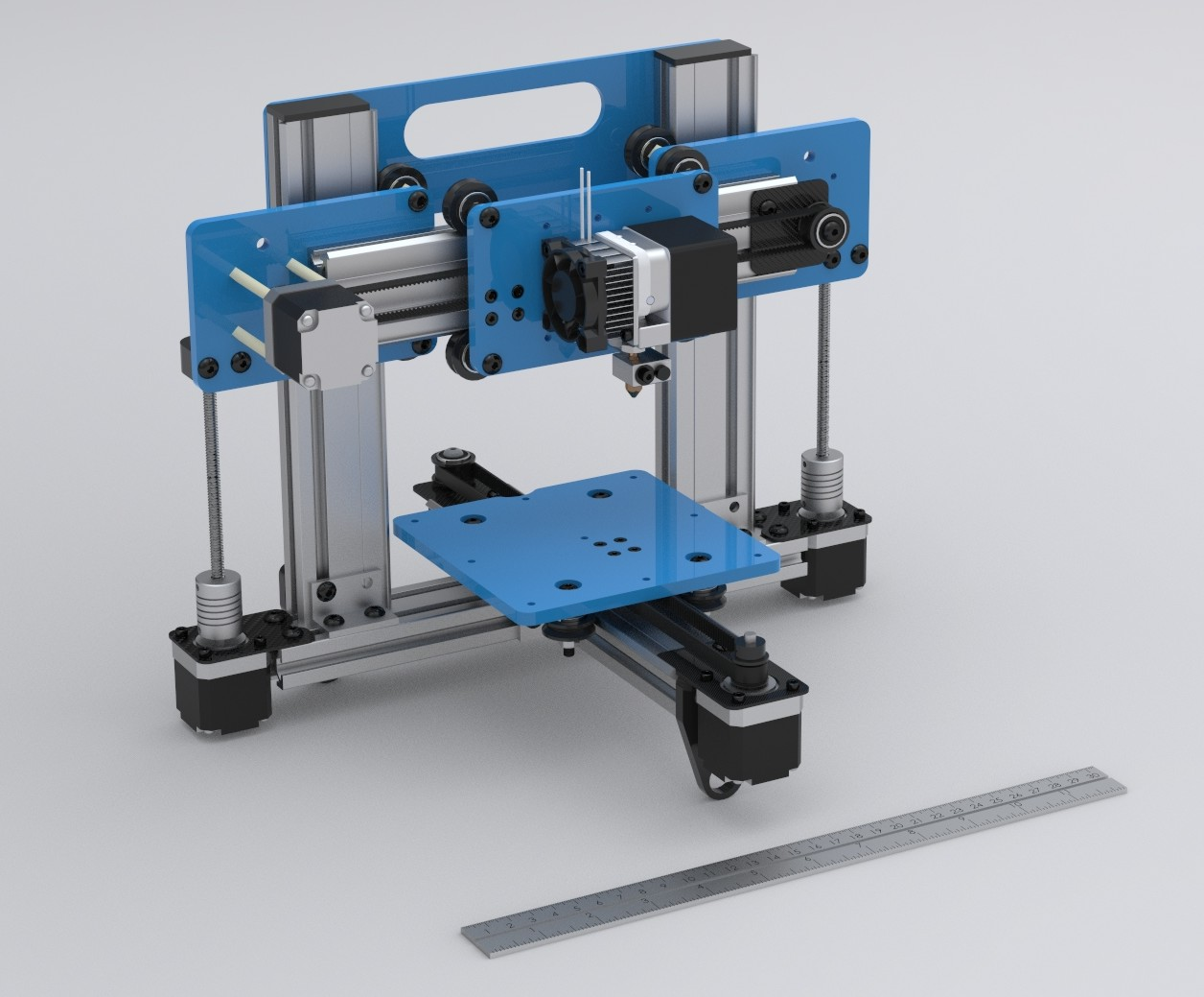 A 3d printer built with makerslide ponoko ponoko for 3d printer build plans
