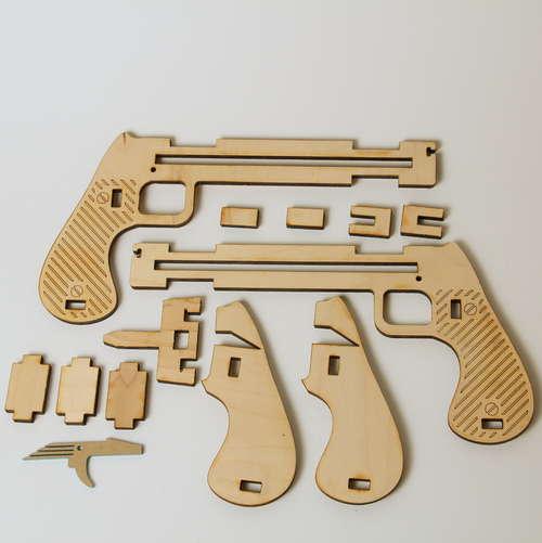 Laser Cut Jenga Pistol