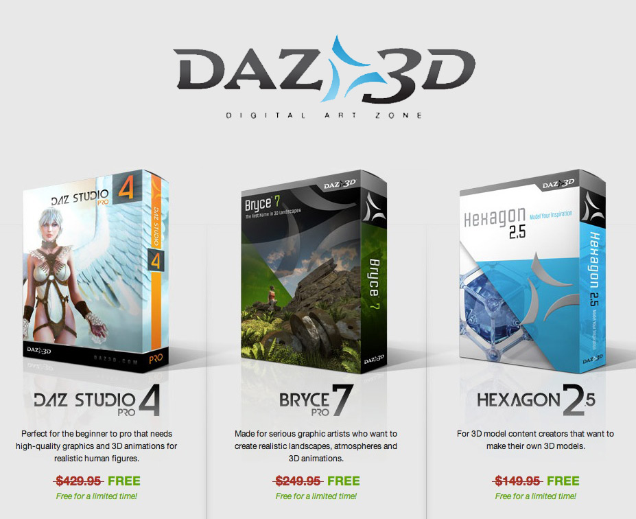 Free 3d software from daz Free 3d software