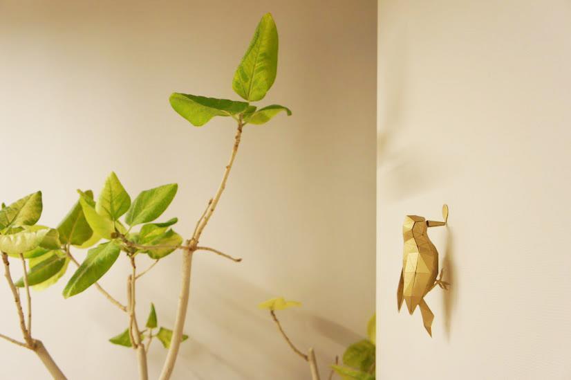 origami laser cut bird