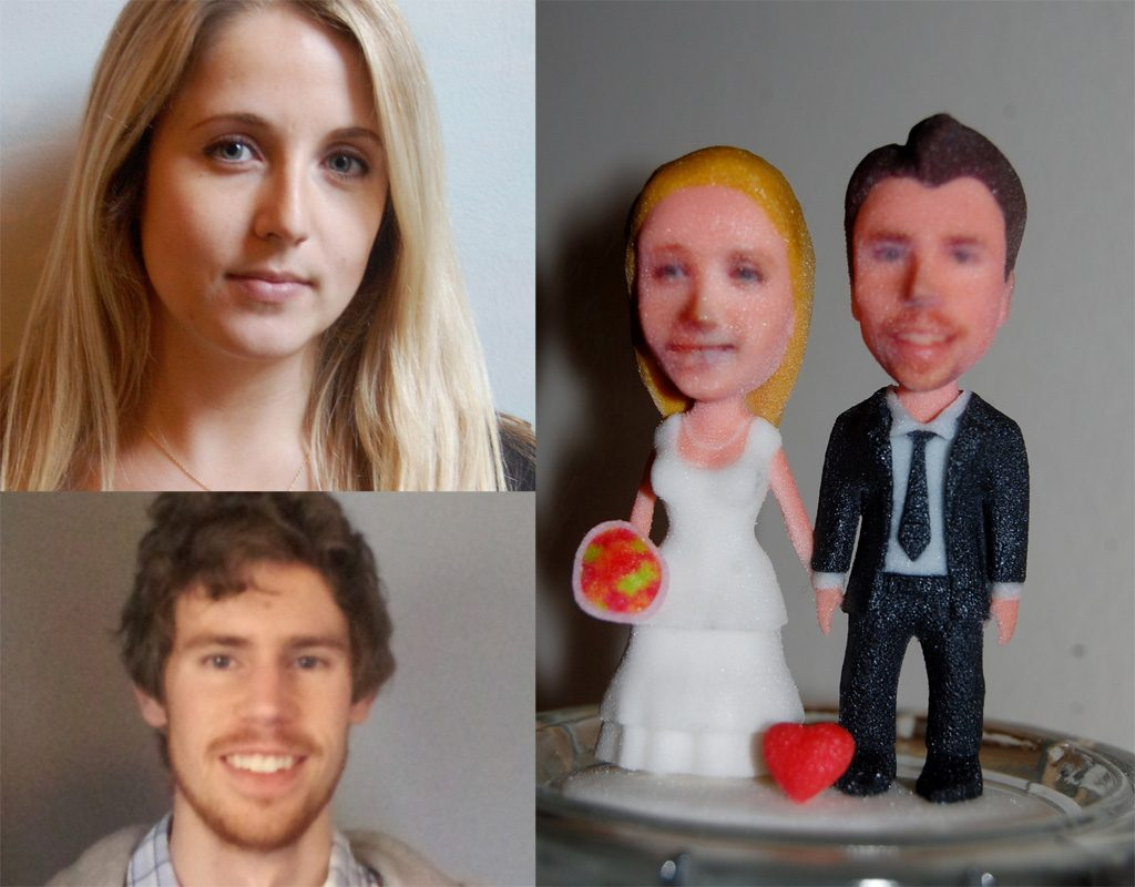 Custom 3D Printed Wedding Cake Toppers