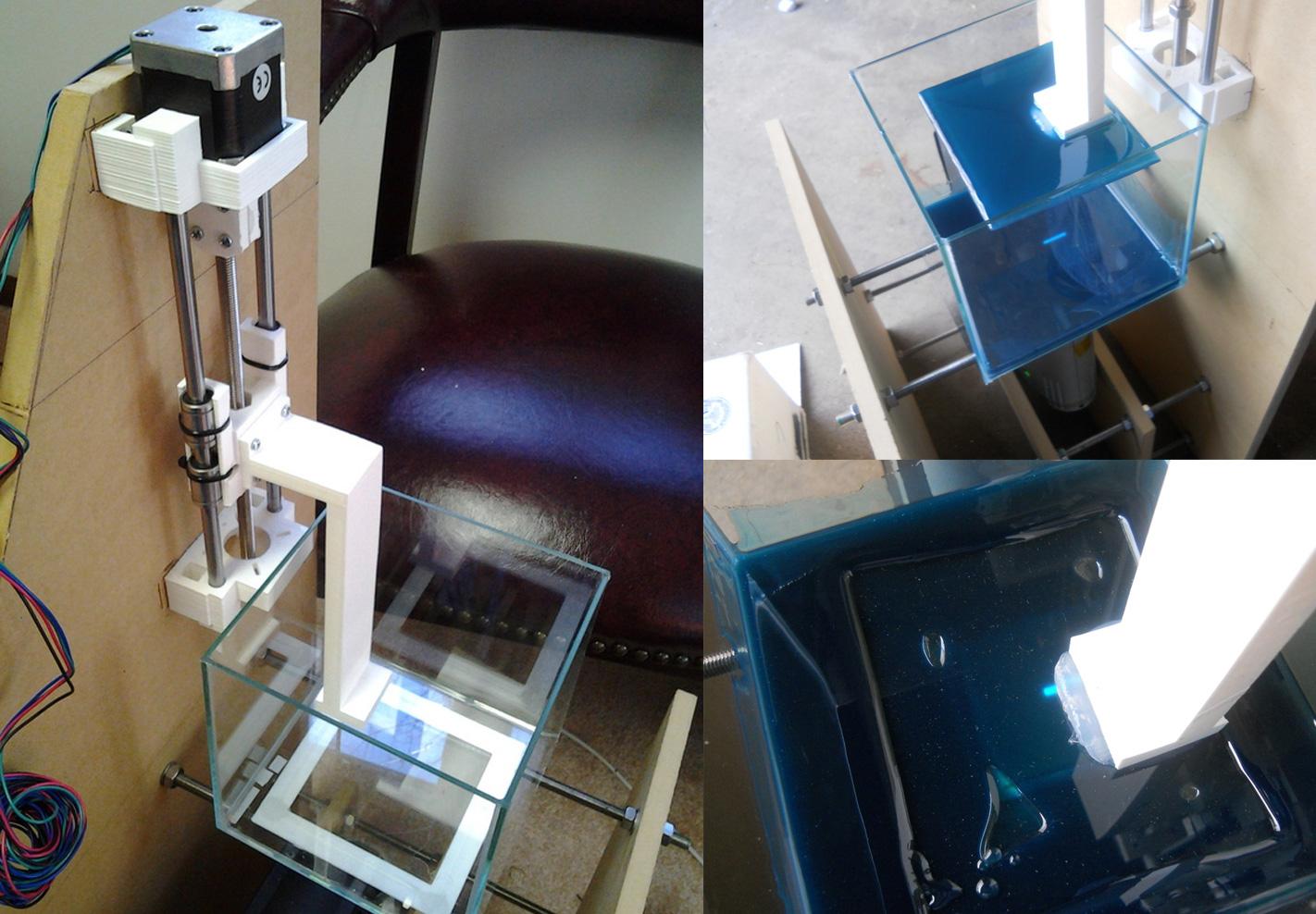 Christopher Jansen's DLP-based resin 3D printer
