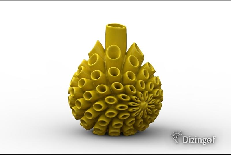 Fractal Blast Vase by Dizingof