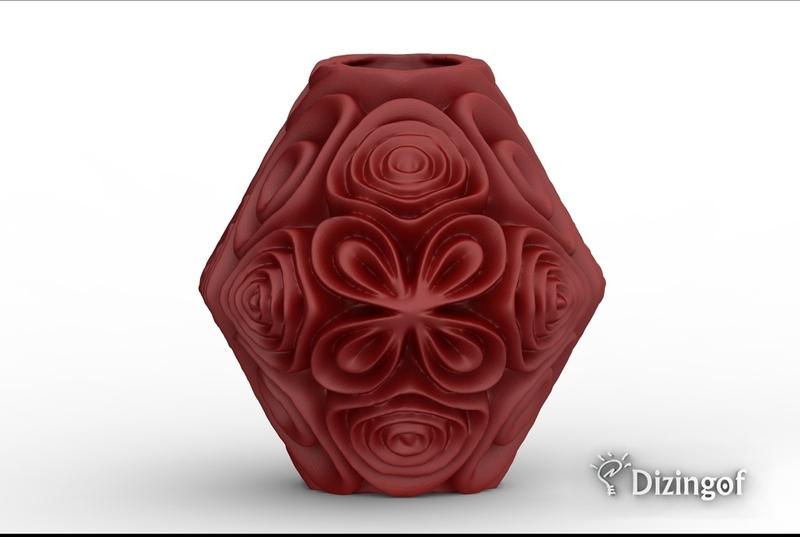 Fractal Blossom Vase II by Dizingof