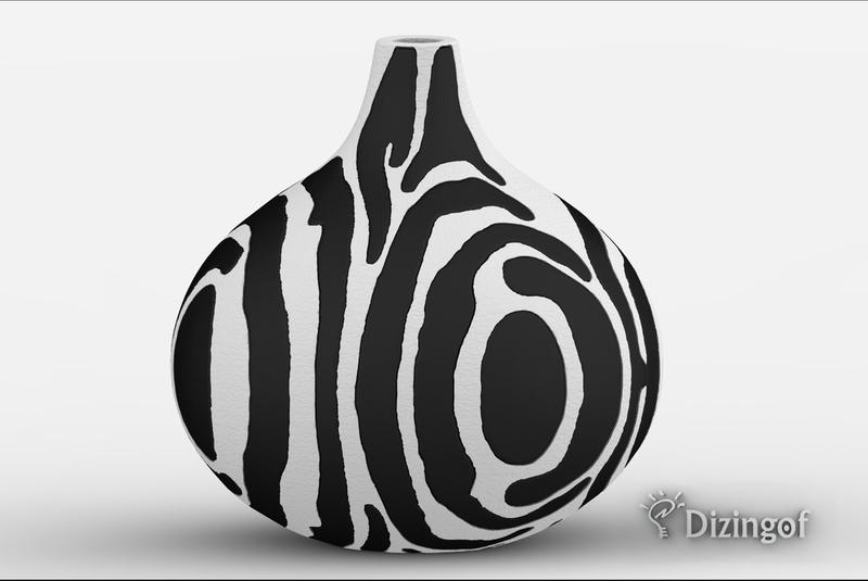 Zebra Vase (dual extruder) by Dizingof