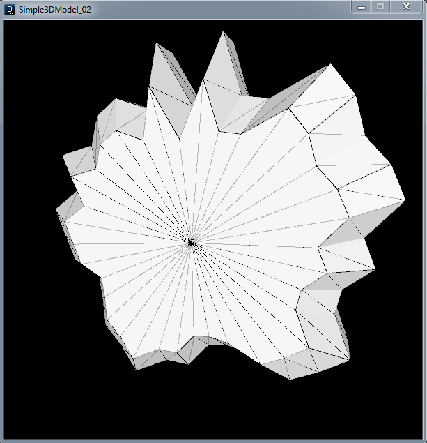 Randomly-generated badge-like shape