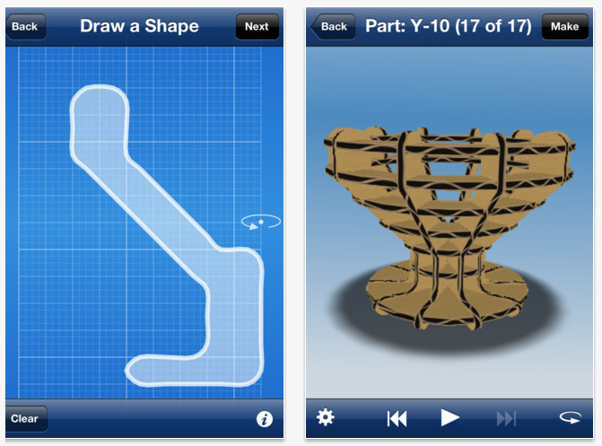 Autodesk Releases 123d Make Intro Mobile App Turn 3d: web based 3d modeling
