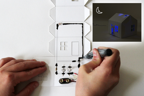 Win A Light Up Paper House Kit Amp Conductive Ink Pen From