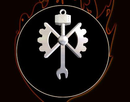 Hammer/Gears pendant
